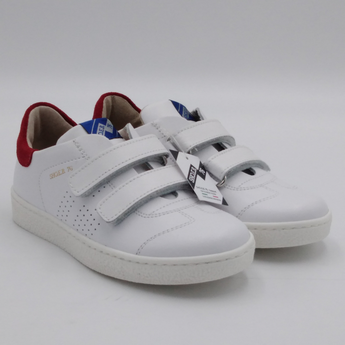 Sneaker bianco rosso 1779...