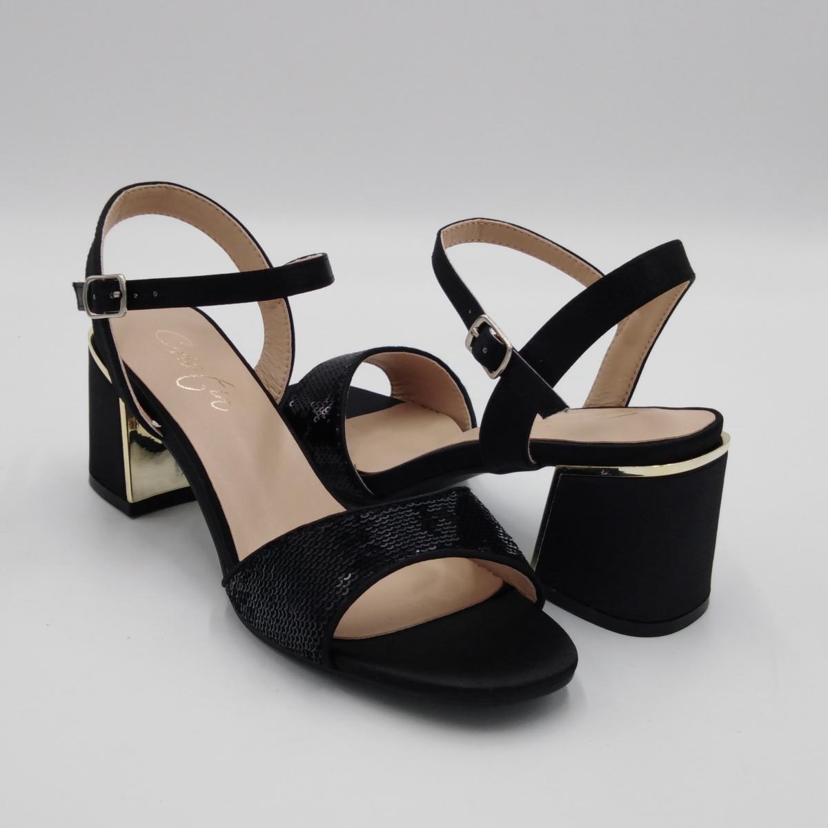 Cristin - Sandalo raso nero...