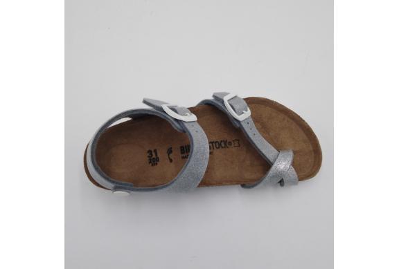 Birkenstock Taormina Sandalo Infradito Silver Glitter