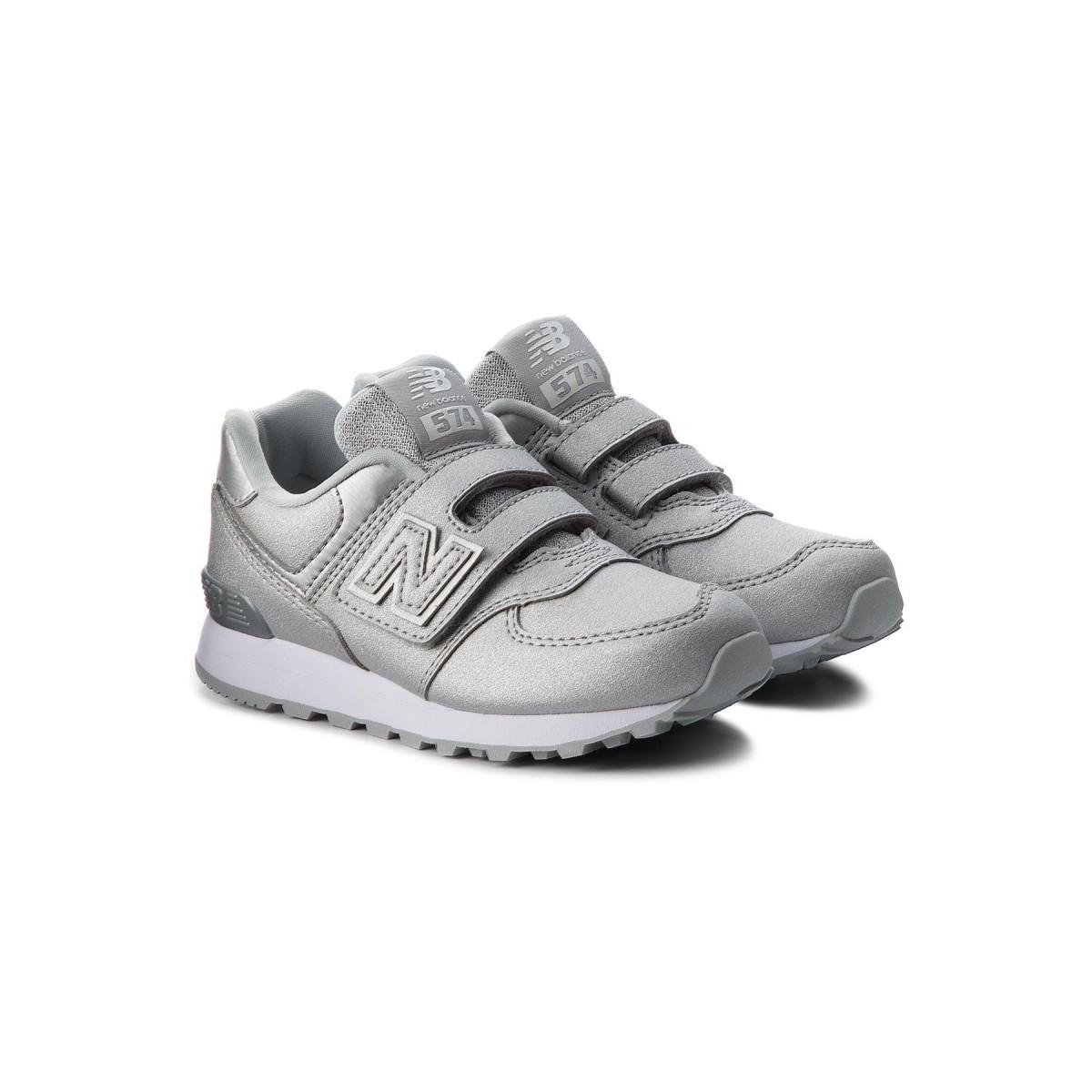 Sneaker Strappo 574 Silver...