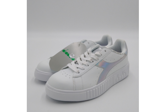 Diadora Game Step Sneaker bianca silver