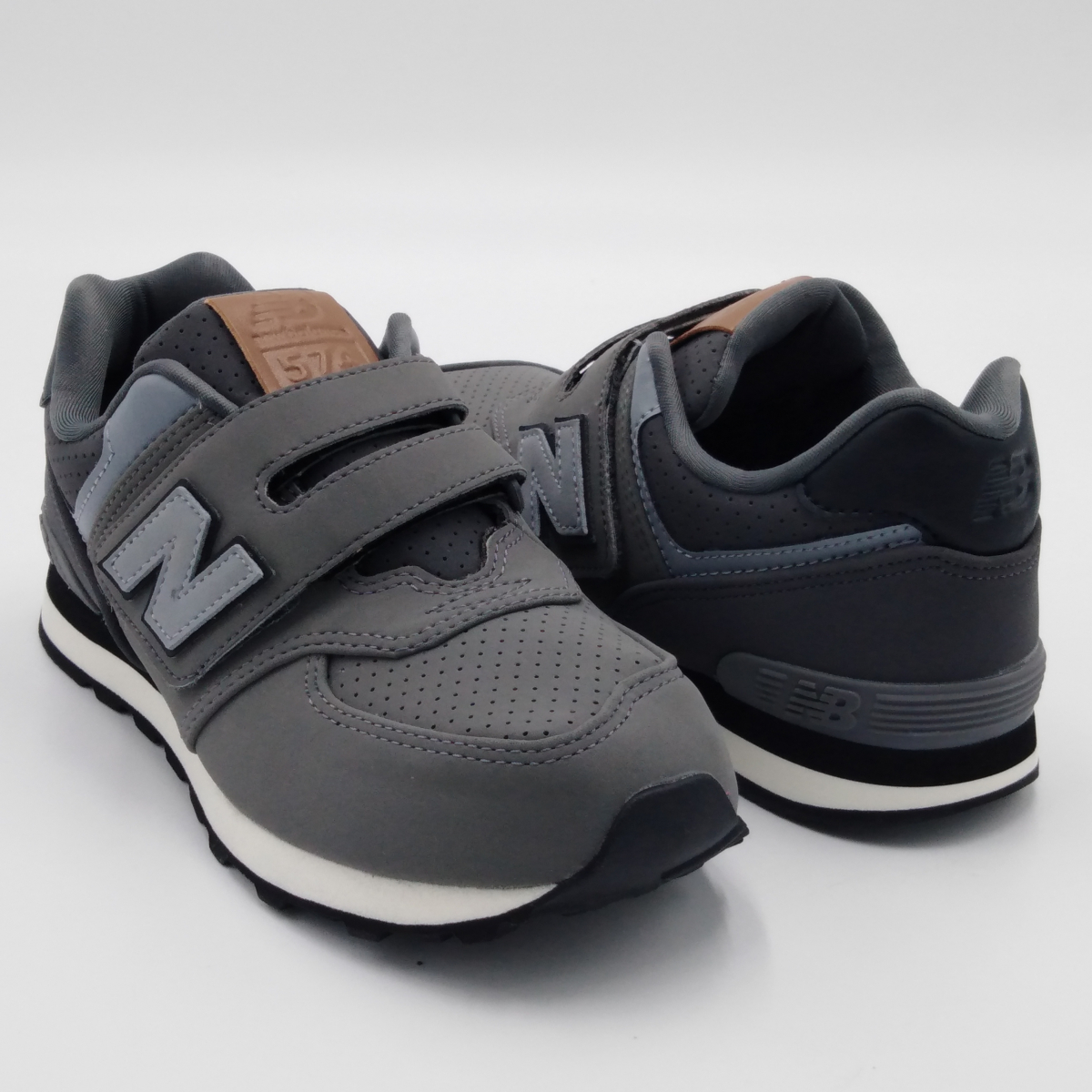 new balance 574 bambino grigio