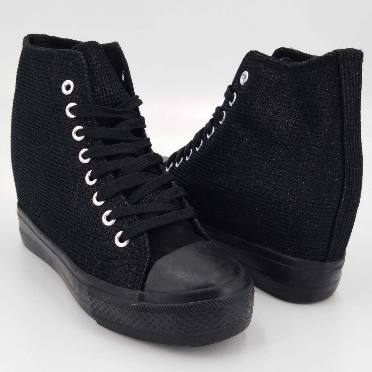 Cristin -Sneaker lurex nero...