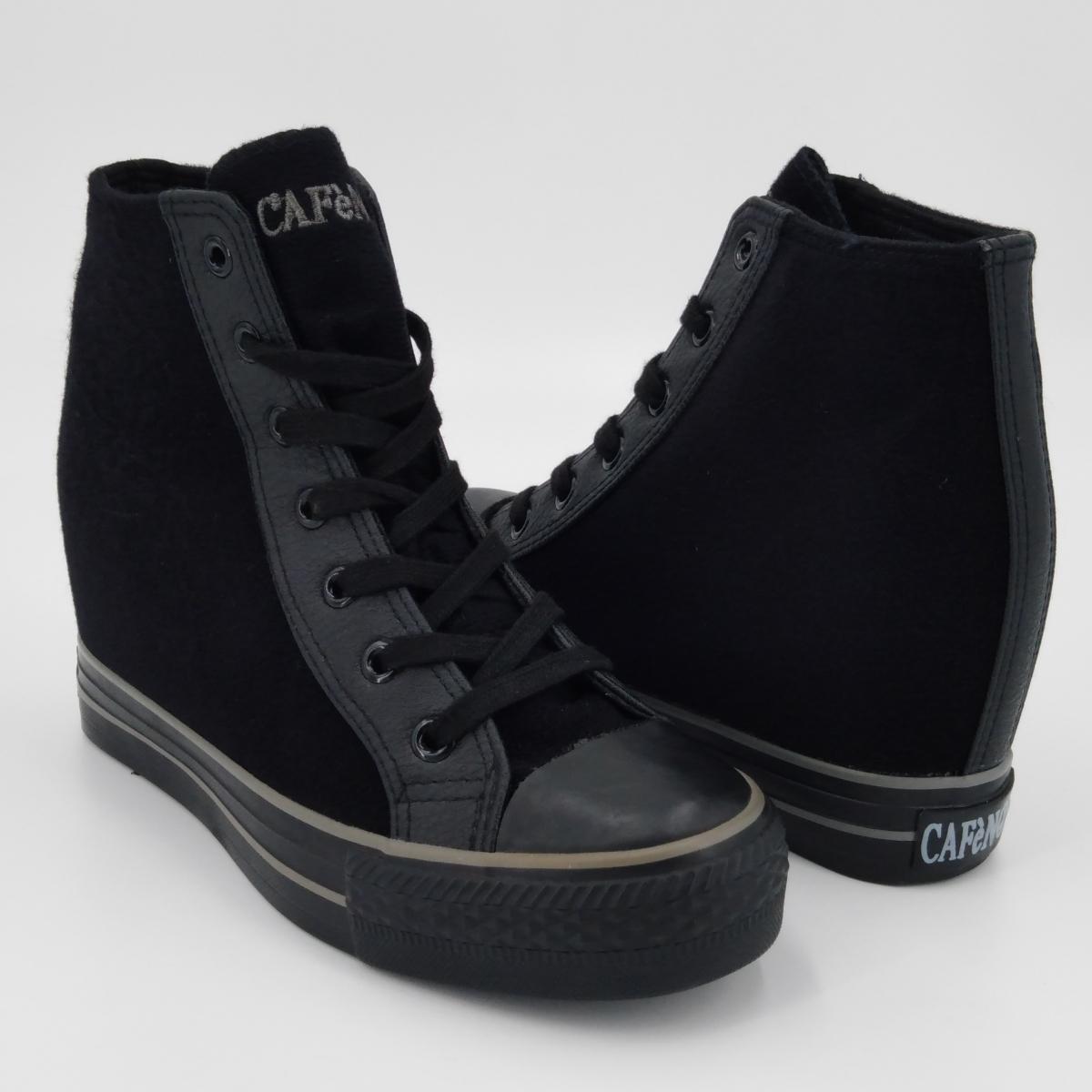 Cafè Noir -Sneaker nera con...
