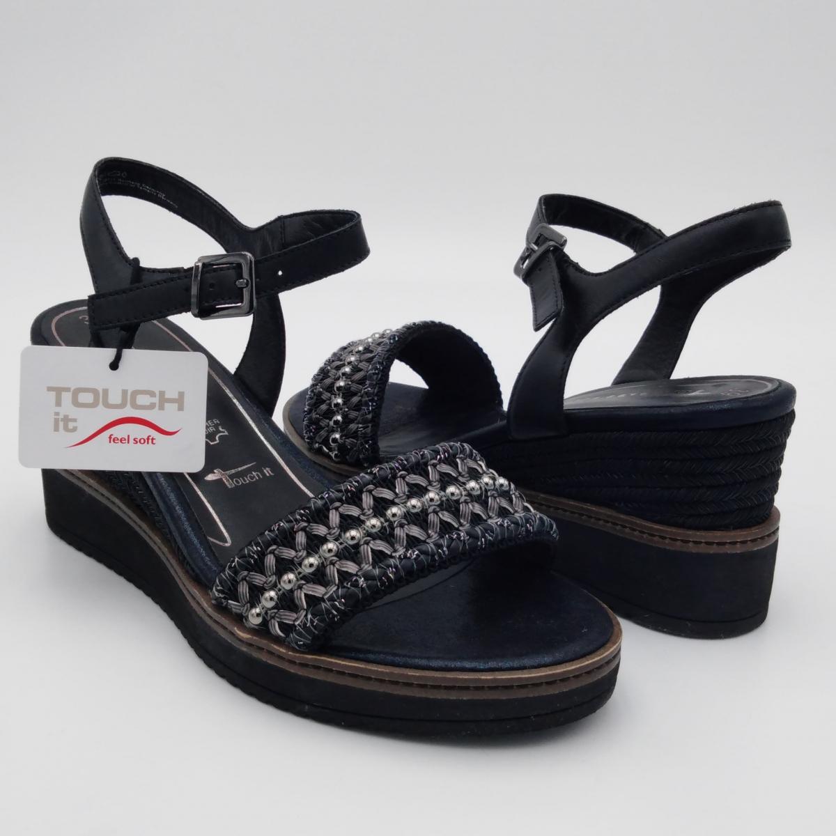 Tamaris -Sandali pelle nera...