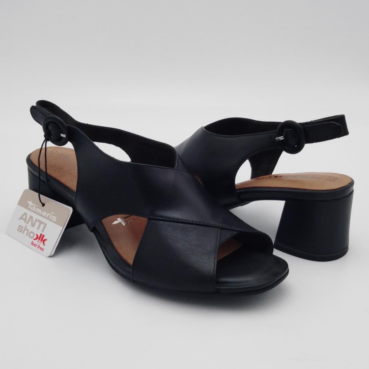 Tamaris -Sandalo pelle nera...