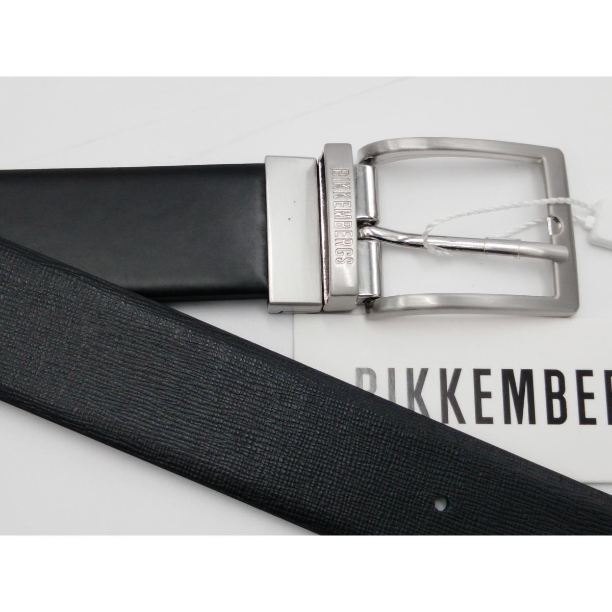 classico grandi affari sulla moda migliore selezione di Cintura nera reversibile Lato vitello liscio l'altro stampa grana fine
