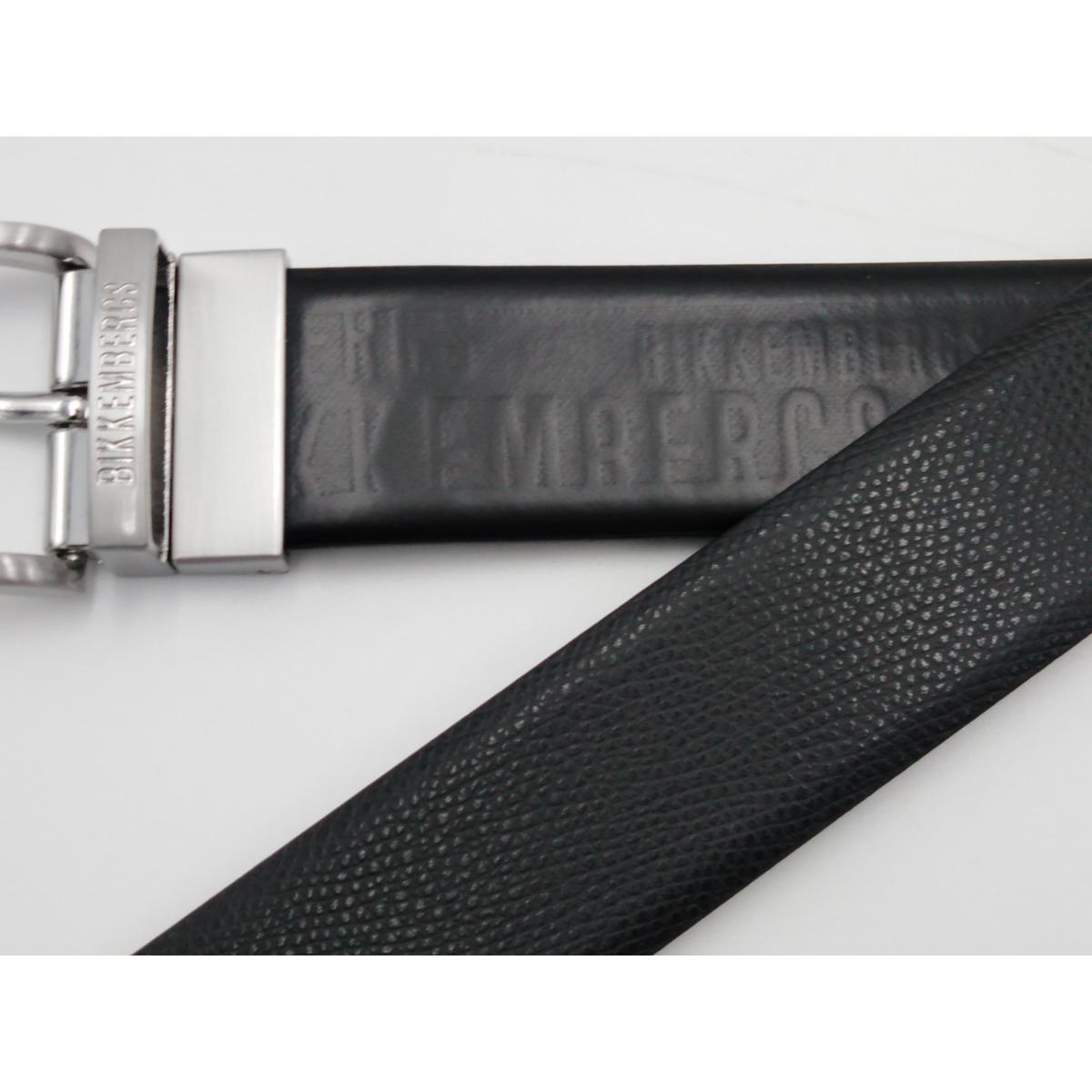 retrò negozi popolari bellissimo stile Cintura nera reversibile Lato stampa logo leggero l'altro stampa teyus