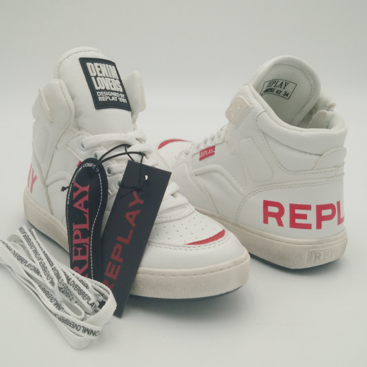 Replay Wall -Sneaker alta...