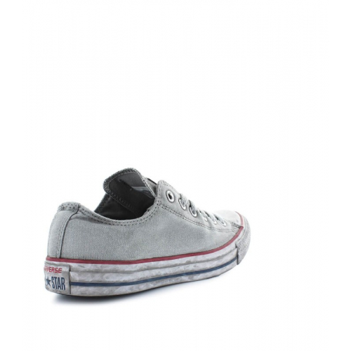 sneaker bassa lacci tela chuck taylor all star ox gray smoked converse