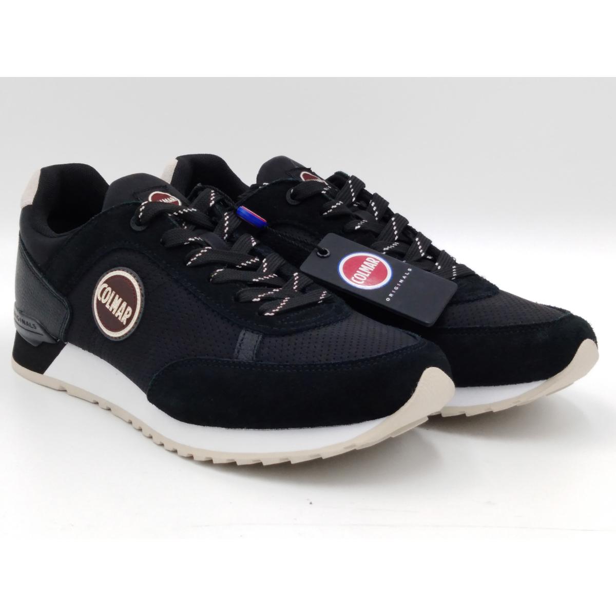 Colmar Travis Drill 018 Black Sneaker Uomo Lacci
