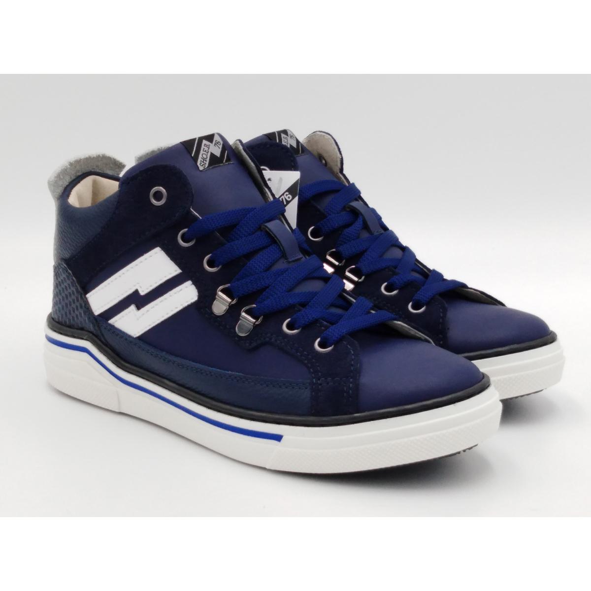 SHOEB 76 -Sneaker lacci blu