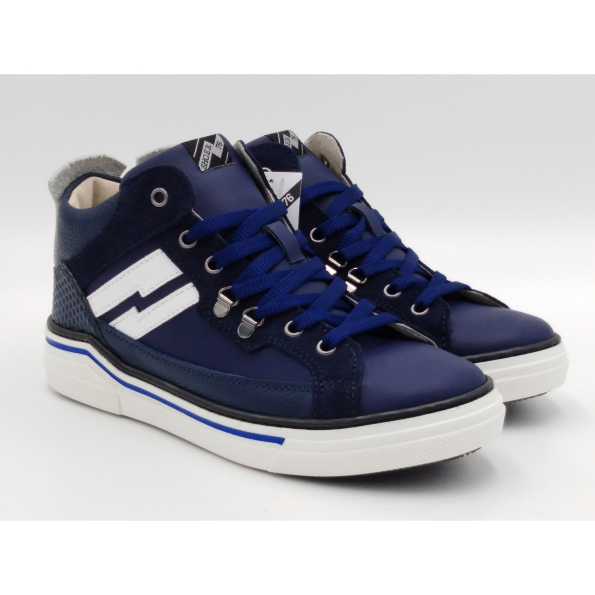SHO.E.B.76 -Sneaker lacci blu