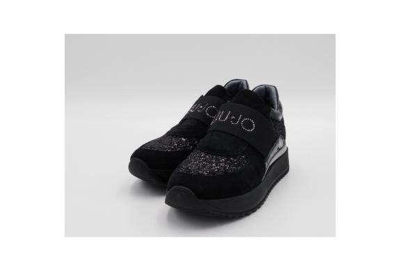 Liu Jo Sneaker slipon nero glitter