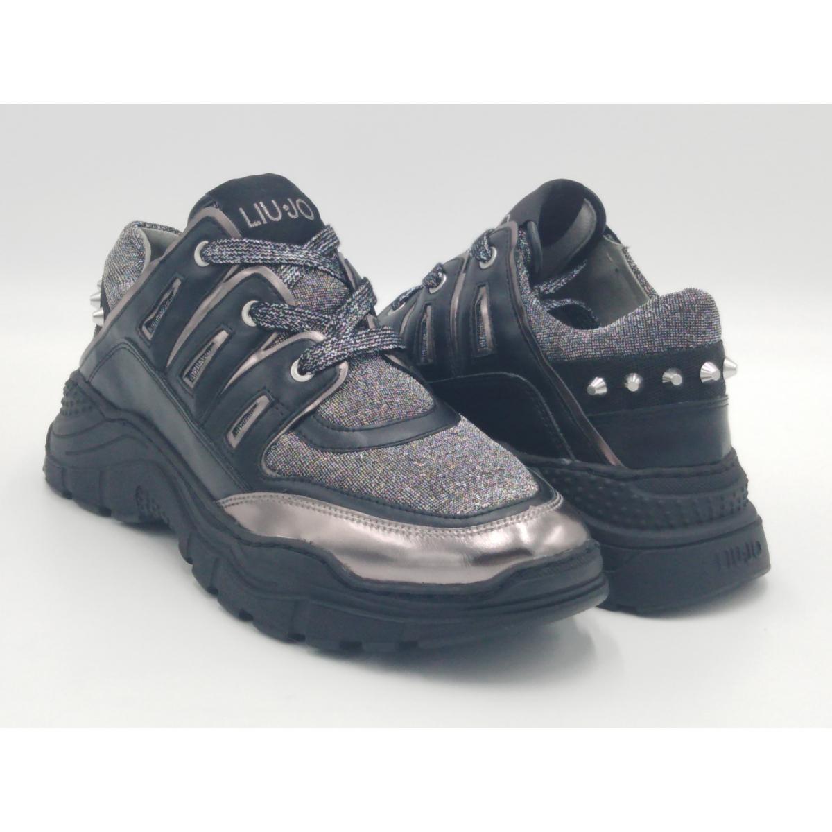Liu Jo -Sneaker nero lurex...