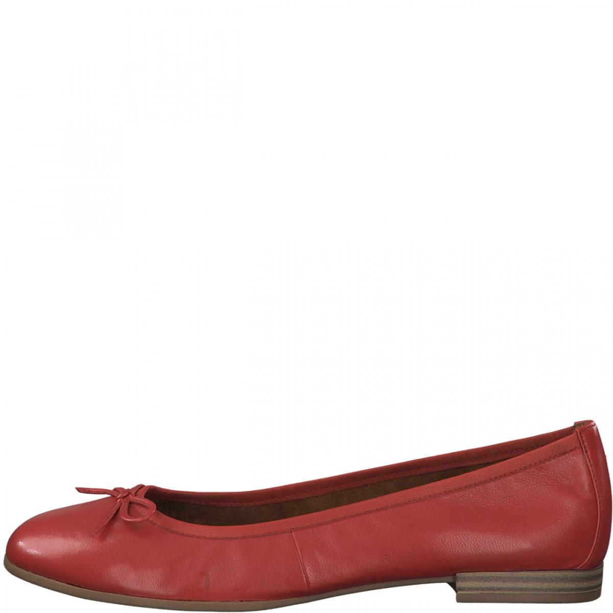 Tamaris -Ballerina pelle rossa